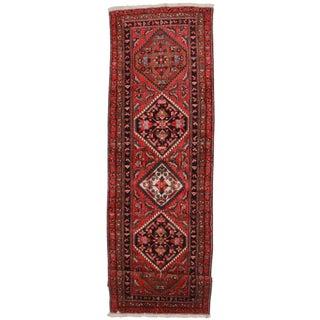 "Vintage Wool Persian Meshkin Runner - 3'10"" X 12'10"""