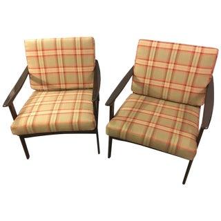 Mid-Century Modern Ib Kofod-Larsen Style Lounge Chairs - a Pair