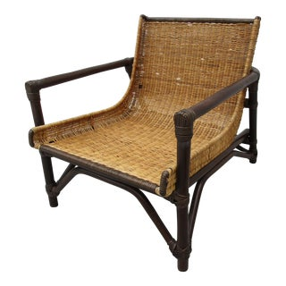 Mid Century Bamboo and Cane Chair