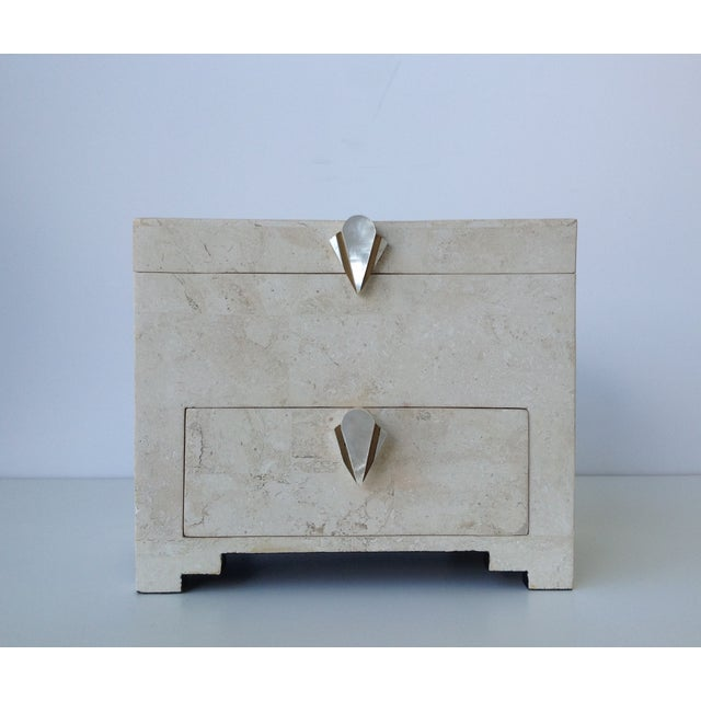 Maitland-Smith Vintage 1970s Tessellated Stone Box - Image 3 of 11