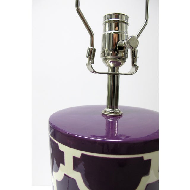 Jill Rosenwald Hampton Links Table Lamp in Purple - Image 3 of 6