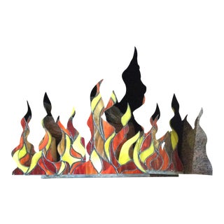 Stained Glass Fireplace Flames