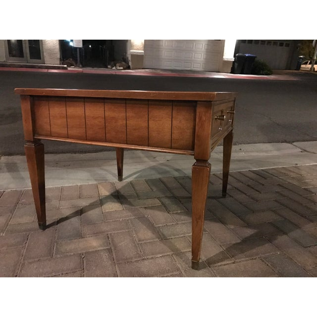 Ethan Allen Henry Coffee Table With Drawers: Mid-Century Single Drawer Oak Coffee Table