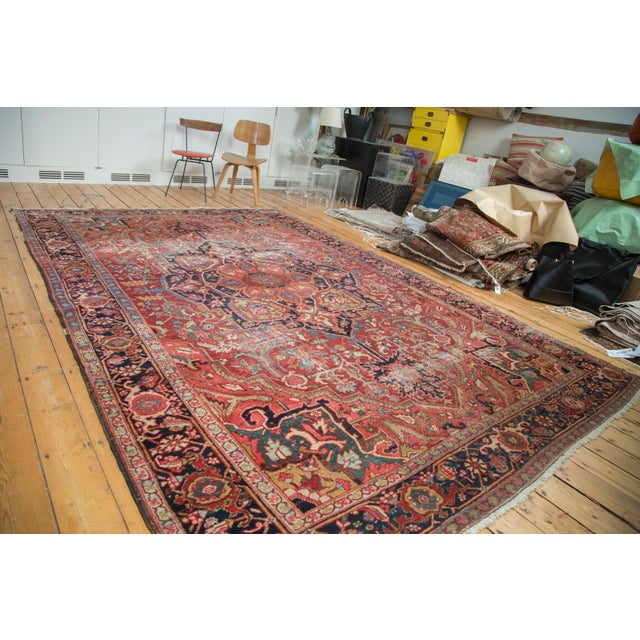 "Distressed Ahar Heriz Carpet - 8'2"" X 11'9"" - Image 2 of 10"