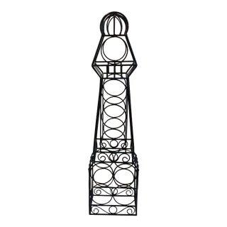 Wrought Iron Wine Rack Tower
