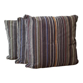 Paul Smith by Maharam Velvet Stripe Pillows - Set of 3