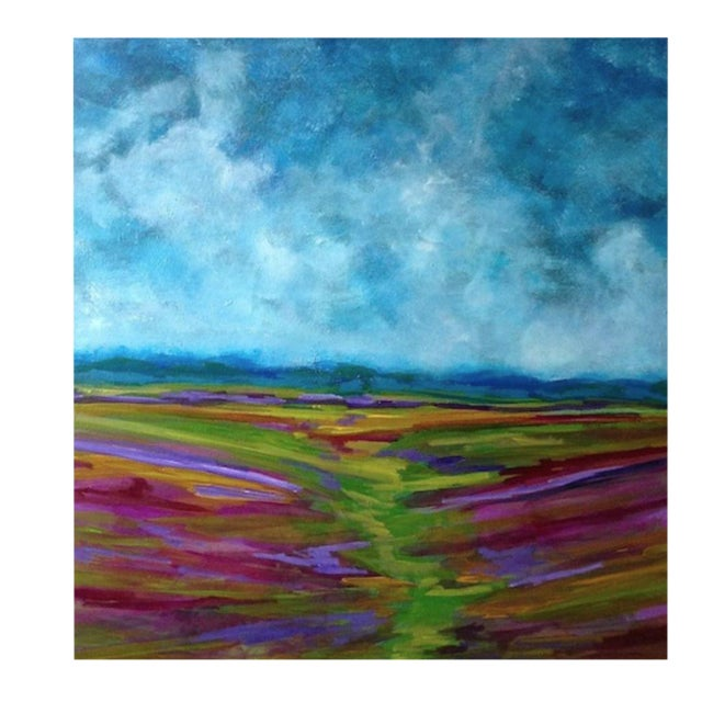 Bryan Boomershine Lavender Field Oil Painting - Image 1 of 3