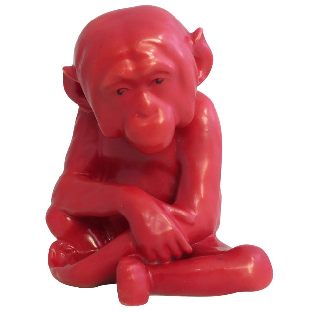 Image of 1920's Porcelain Monkey