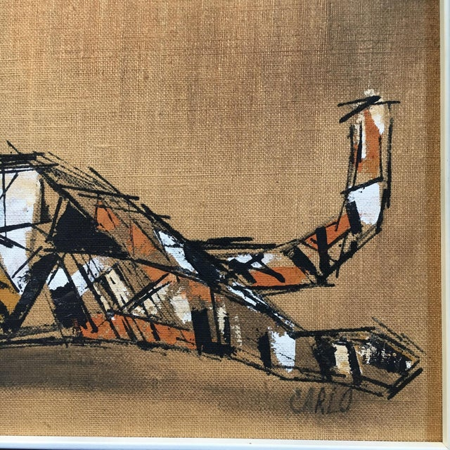 "Image of Tiger Painting on Burlap by ""Carlos"""
