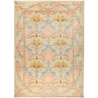 """New Arts & Crafts Hand-Knotted Rug - 9'10"""" X 13'5"""""""