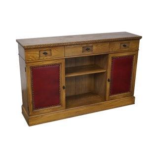 Romweber Viking Oak Bookcase Credenza Cabinet