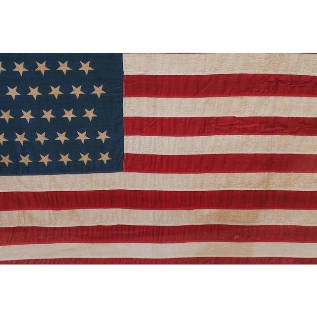 Monumental 46 Star Framed American Flag from 1909 - Image 1 of 6