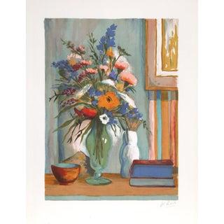 "Philippe Rodelle ""Flower Vase"" Lithograph"