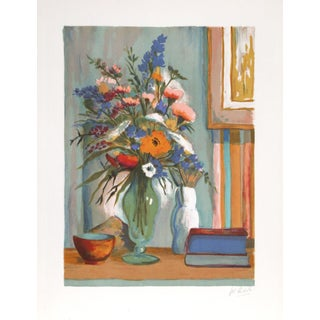 "Philippe Rodelle ""Flower Vase"" Lithograph"