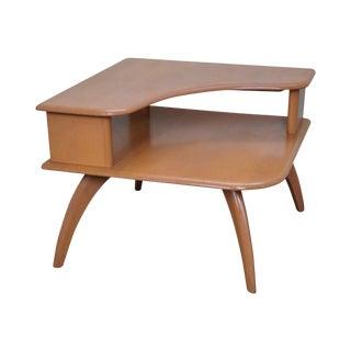 Heywood Wakefield Mid-Century Maple Corner Table