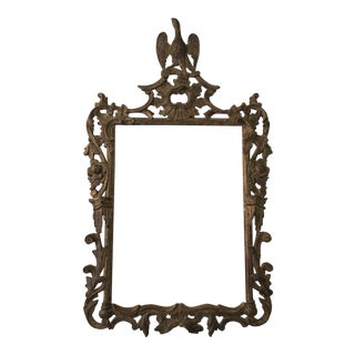 Chippendale Style Carved Wood Mirror