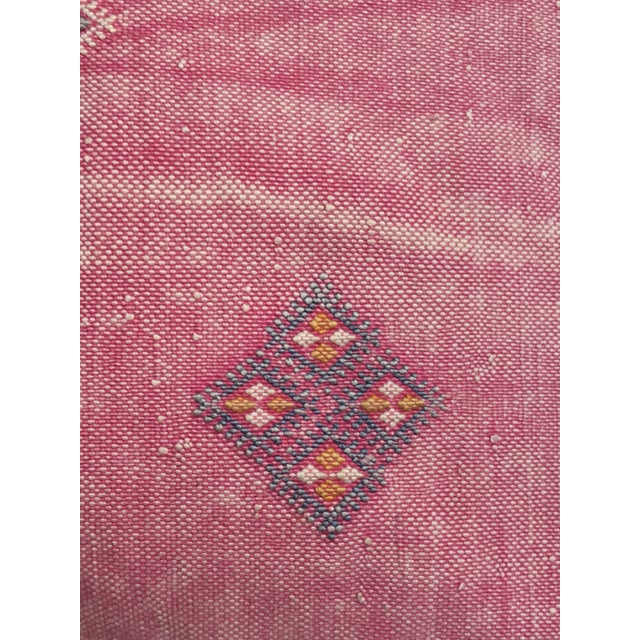 Pink Moroccan Stuffed Cactus Silk Pillow - Image 5 of 9