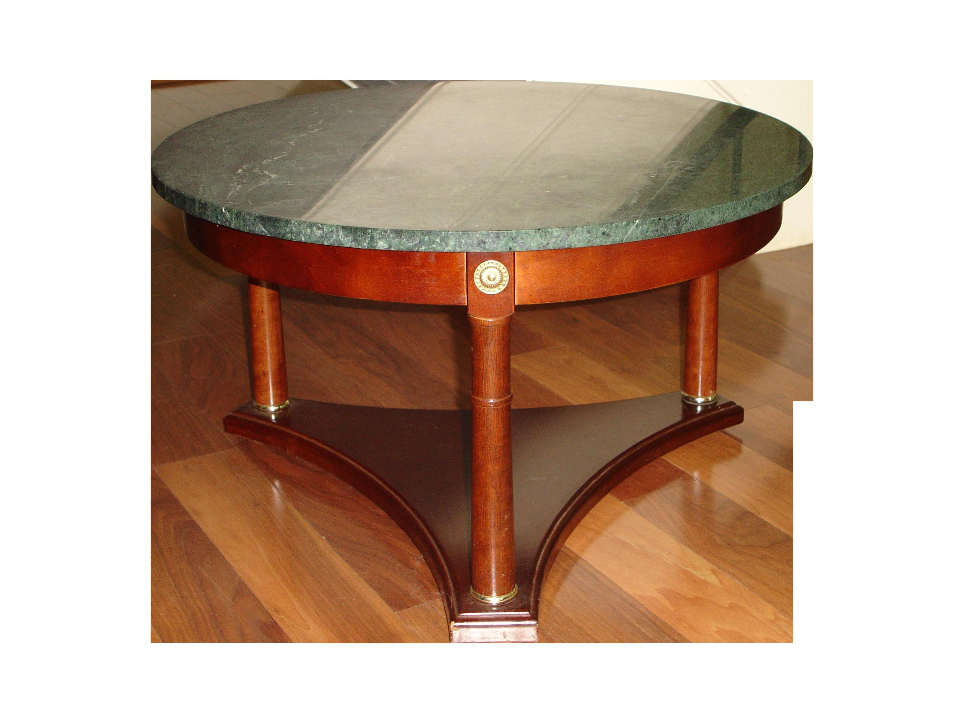 Vintage Green Marble Top U0026 Mahogany Coffee Table   Image 1 ...