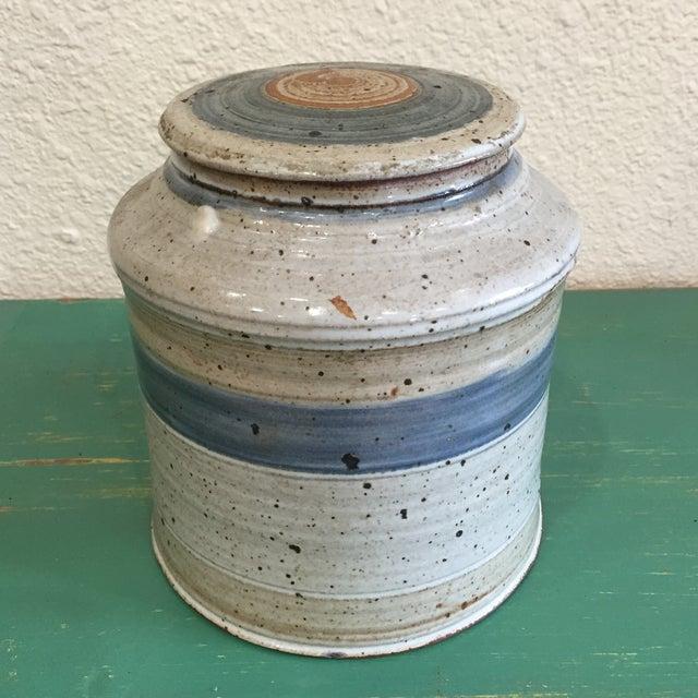 Hand Thrown Earthenware Cookie Jar - Image 2 of 6