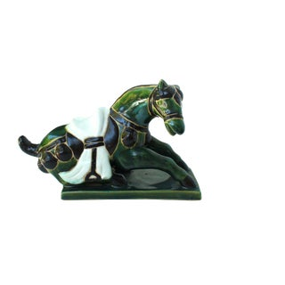 Tang Porcelain Reclining Horse