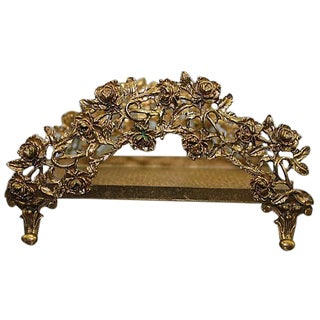 1960s Ornate Gilt Metal Kleenex Holder