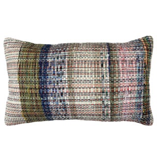 Cotton Kilim Lumbar Pillow | 12x20""