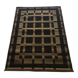 "Modern Black and Beige Rug - 5'3"" x 7'3"""
