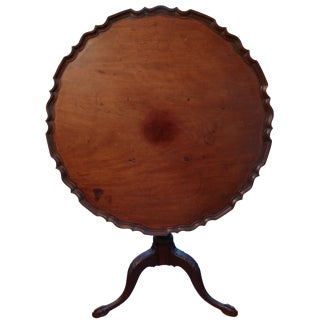 Antique Mahogany Piecrust Tilt-Top Table