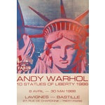 Image of Andy Warhol Exhibition Poster Statue of Liberty