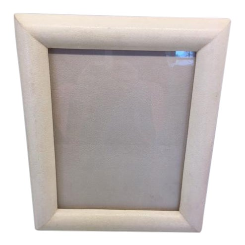 Image of Cream Shagreen Picture Frame