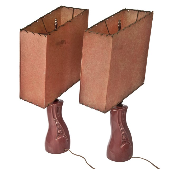 Vintage Mid-Century Geometric Lamps - a Pair - Image 3 of 3