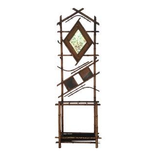Vintage Japonisme Bamboo Hat Rack