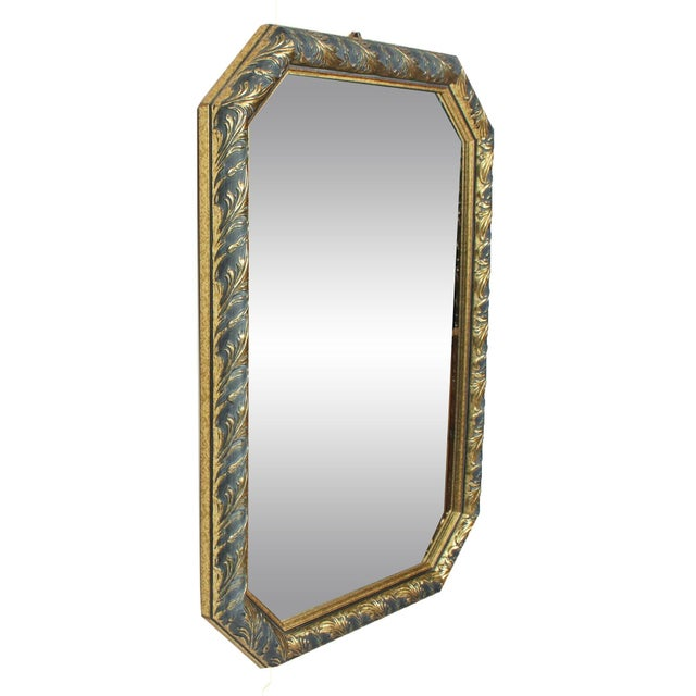 1970s Vintage Black & Gold Octagonal Hall Mirror - Image 2 of 3