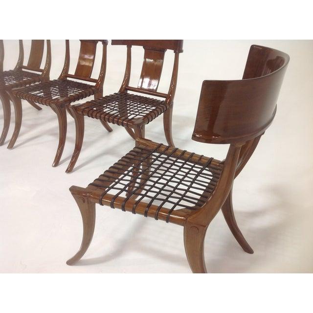 Mid Century Klismos Style Dining Chairs - Set Of 6