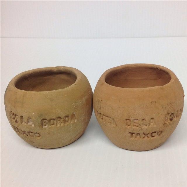 Rustic Terra Cotta Pots, Taxco Mexico - A Pair - Image 3 of 8
