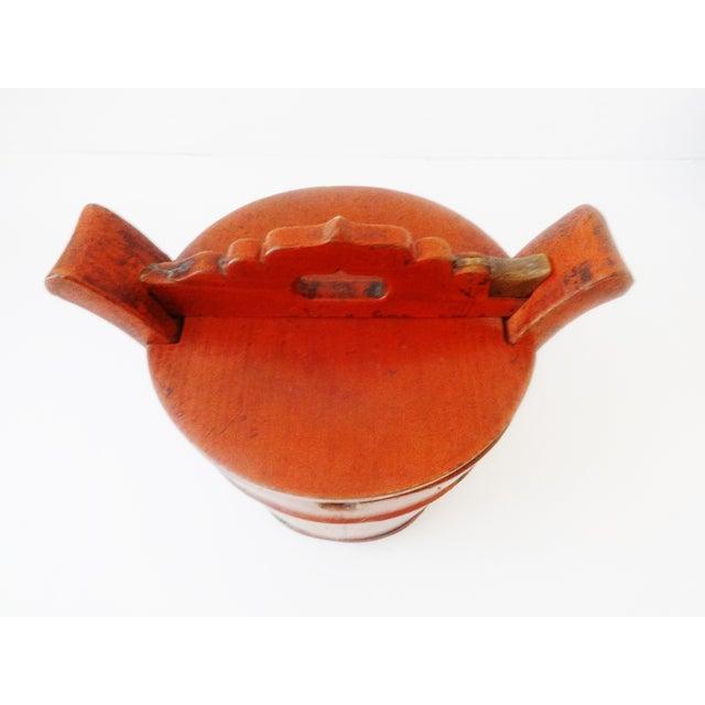 Vintage Chinese Food Carrier Rice Basket - Image 4 of 6