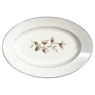 Antique French Moss Rose Platter