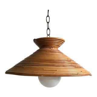 Mid Century Rattan Pendant Light