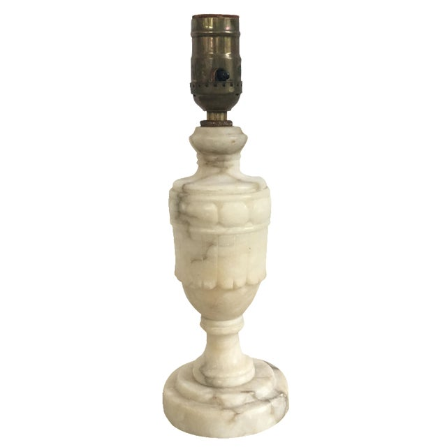 Antique 1920s Alabaster Table Lamp - Image 1 of 6