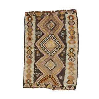 "Vintage Turkish Kilim Mat - 1'11"" x 2'9"""