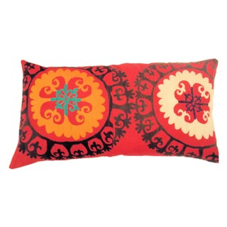 Uzbek Bridal Suzani Extra Large Pillow Sham