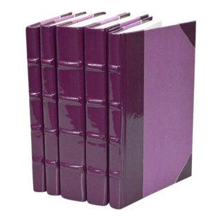 Patent Leather Plum Books - Set of 5