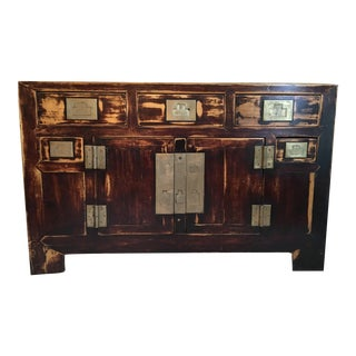 Antique Chinese Elmwood Sideboard