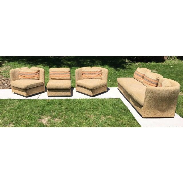 Mid Century Scandinavian Modular Sofa Sectional - Image 4 of 10