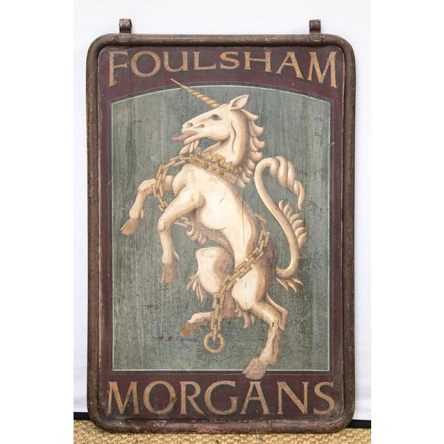 "English Pub Sign ""Foulsham Morgans"" - Image 2 of 5"