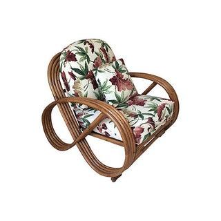 Paul Frankl Style Round Pretzel Rattan Chair