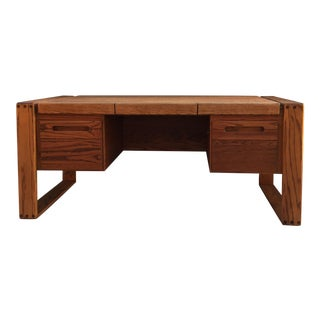 Mid-Century Bauhaus Executive Office Desk by Lou Hodges