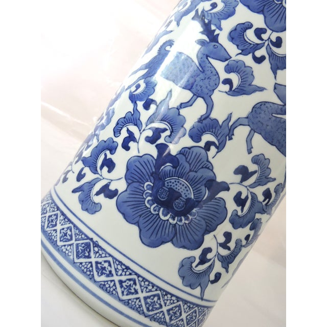 Umbrella Stand Blue And White: Chinese Blue And White Umbrella Stand