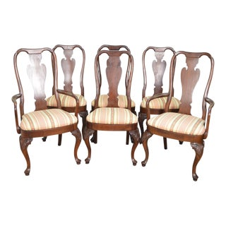 Knob Creek Solid Cherry Wood Queen Anne Dining Chairs - Set of 6