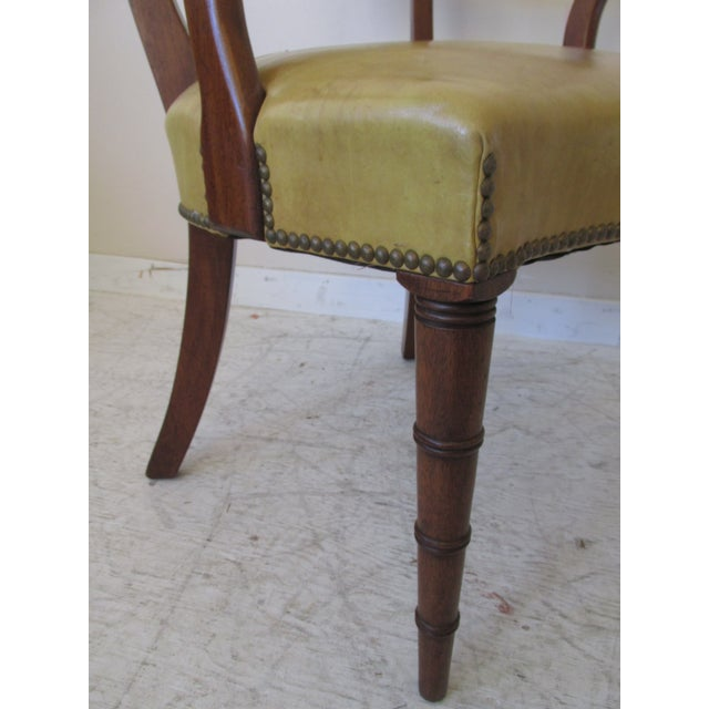Vintage Butterscotch Leather Armchairs - A Pair - Image 8 of 11